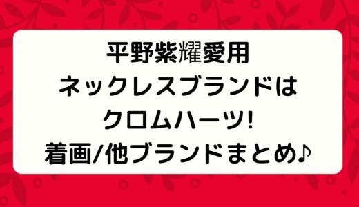 平野紫耀愛用ネックレスブランドはクロムハーツ!着画まとめ