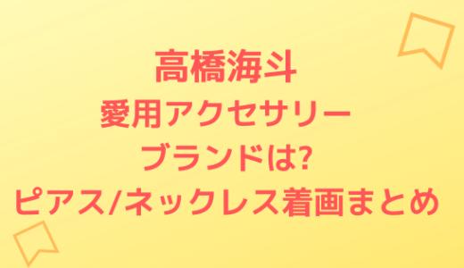 高橋海斗愛用アクセサリーブランドは?ピアス/ネックレス着画まとめ
