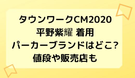 タウンワークCM2020|平野紫耀のパーカーブランドはどこ?値段や販売店も